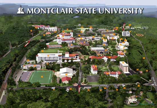 Montclair State University Campus Map Pdf.Nj Advertising Club Directions